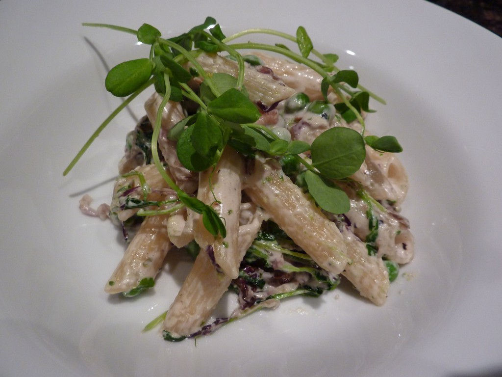 penne with peas luxury villas in italy