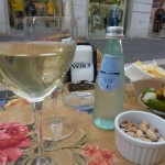 Glass of Bianco di Custoza at Bardolino bar