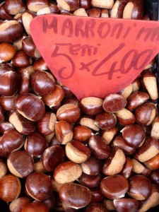 Marroni in Market - recipes from Italiaoutdoors bike tours in Italy