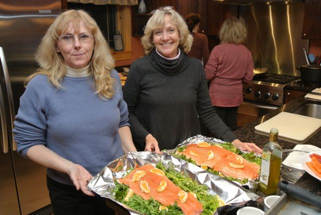 Our salmon chefs - Italiaoutdoorsfoodandwine cycle and ski holidays italy