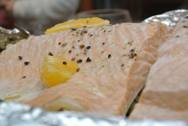 Oven Poached Salmon - Italiaoutdoorsfoodandwine culinary bike tours italy