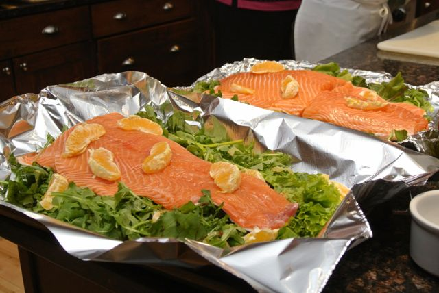 Salmon ready for oven - Italiaoutdoors culinary bike tours italy