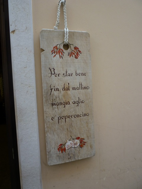 sign at entrance biking and cooking tours Italiaoutdoors Food and Wine