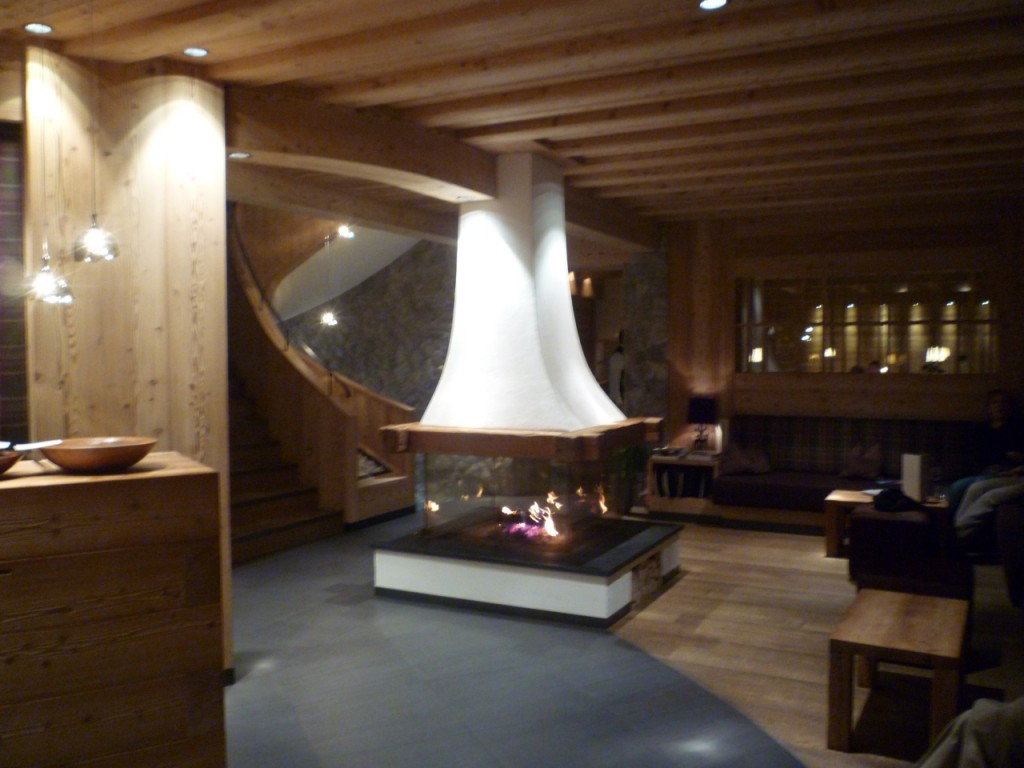 lounge with fireplace luxury ski holidays italiaoutdoorsfoodandwine
