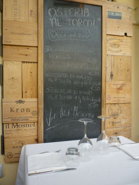chalkboard at al torcol culinary bike tours italiaoutdoors food and wine