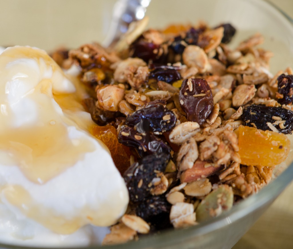 granola and yogurt cycling hoidays dolomites italiaoutdoors food and wine