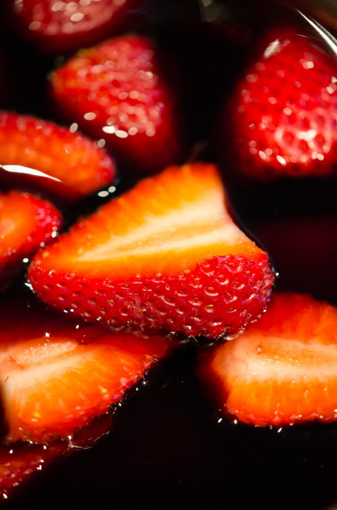 strawberries in balsamic luxury bike tours italy italiaoutdoors food and wine