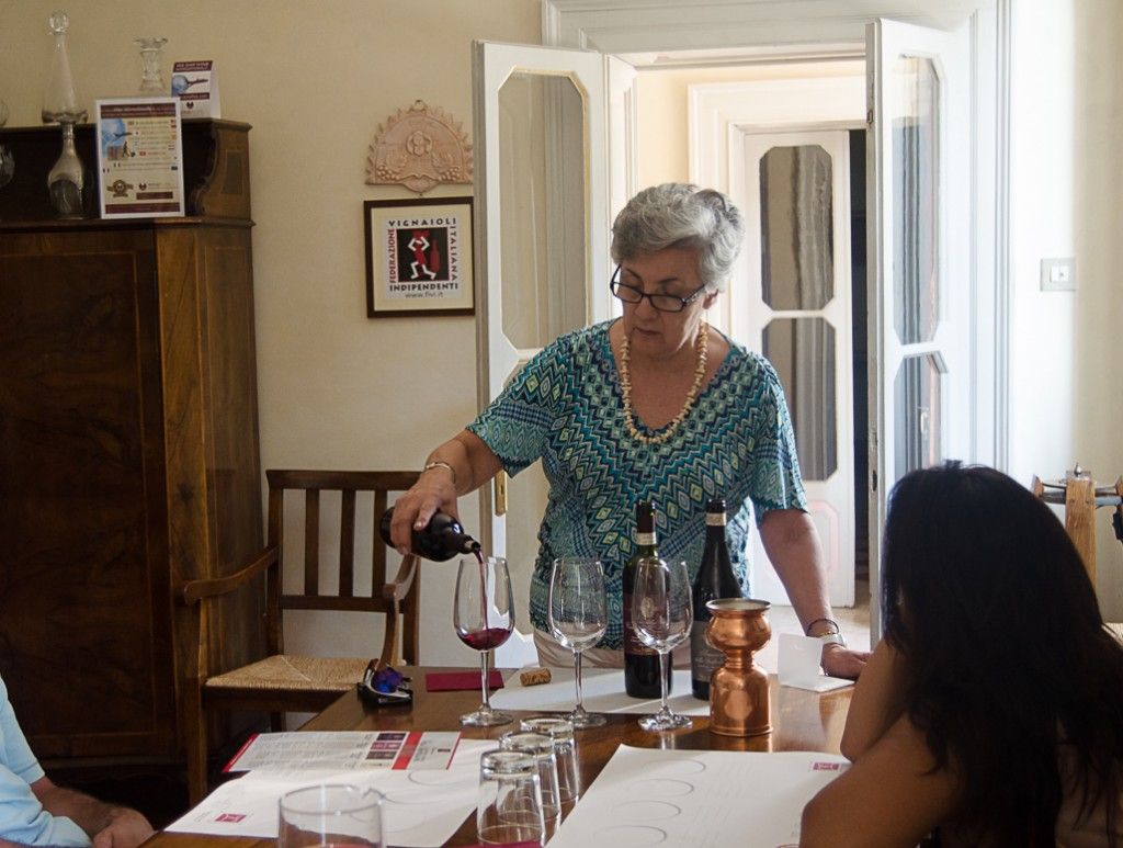 tasting at monteleone amarone wine bike tours italy italiaoutdoors food and wine