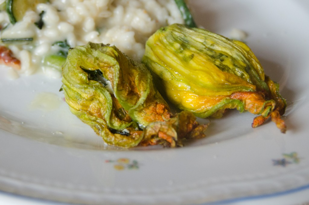 zucchini blossoms cooking and cycling tours italy