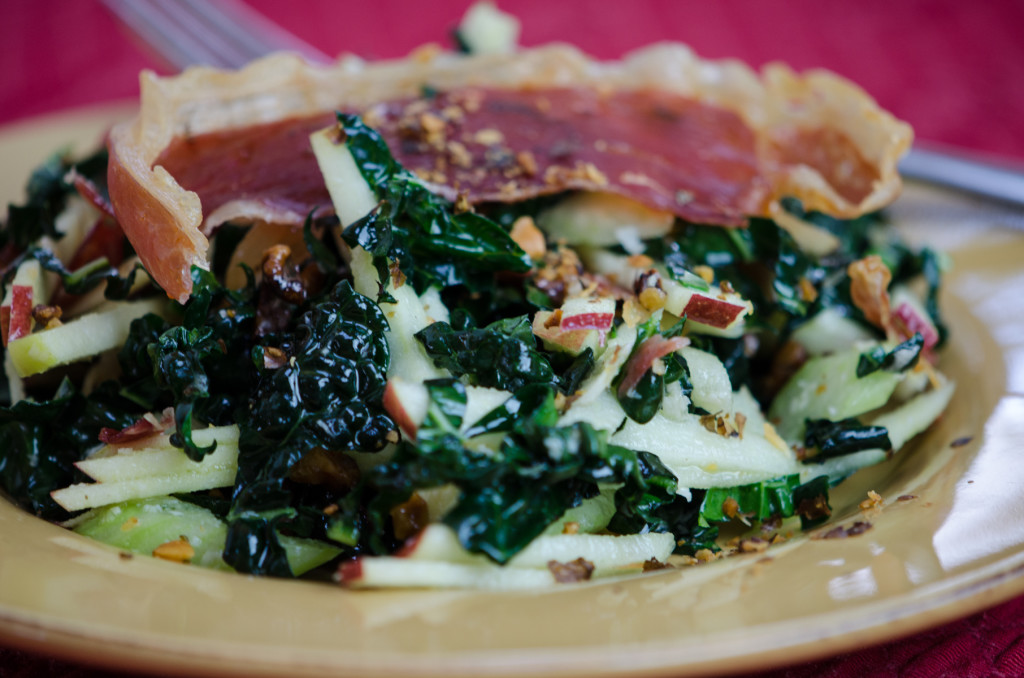 kale apple salad side private walking tours