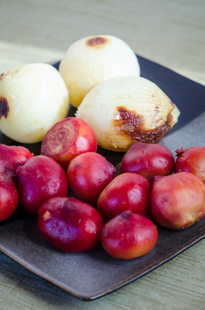 roasted beets and onions ski holidays dolomites italiaoutdoors food and wine