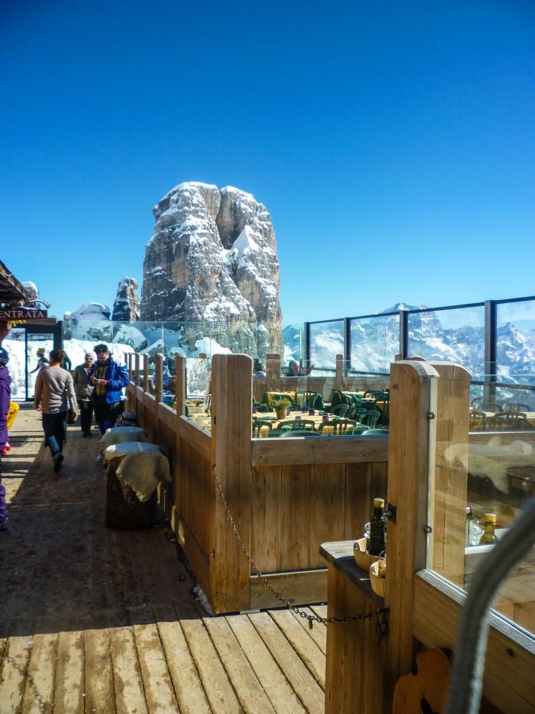 deck at averau ski tours dolomites italy