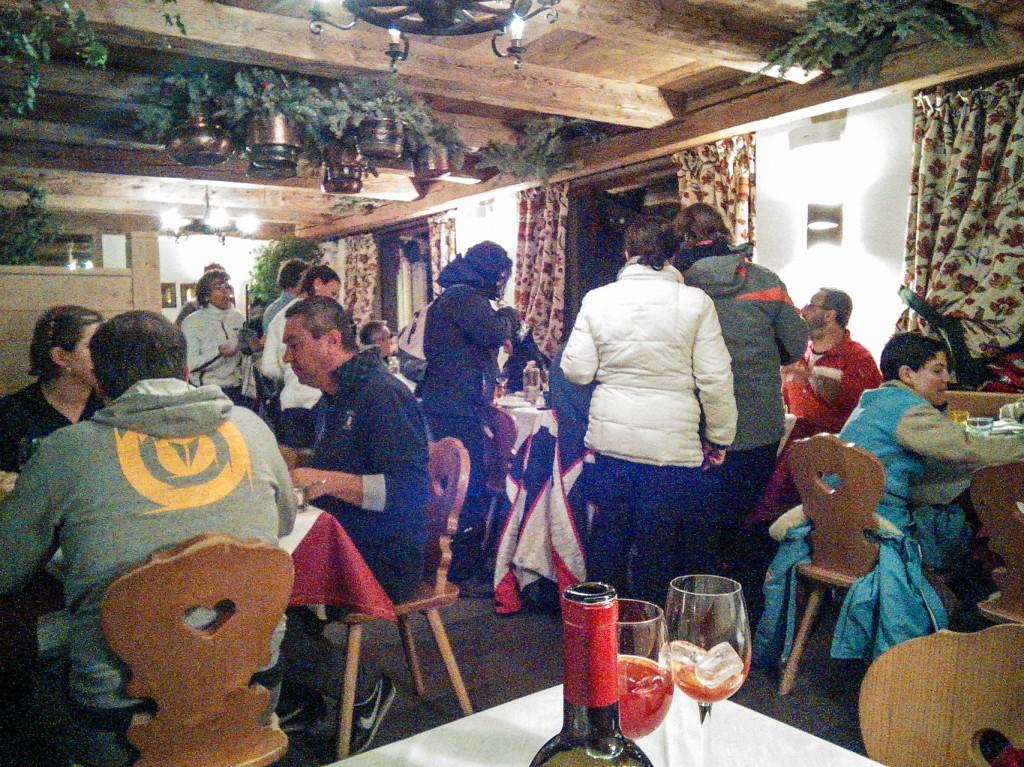 rifugio averau interior ski tours dolomites italy