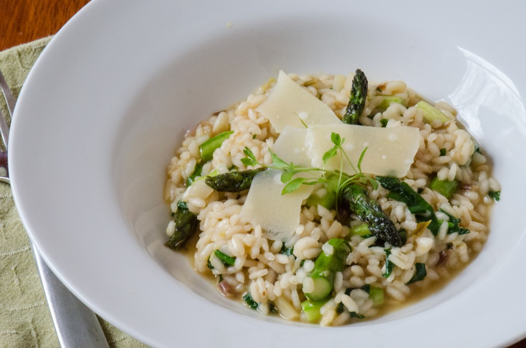 risotto plated fork cycling tours italy dolomites italiaoutdoors