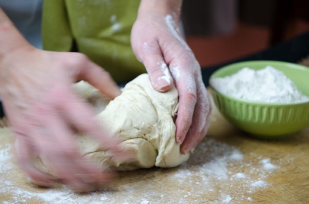 kneading foccacia active private bike tours tuscany